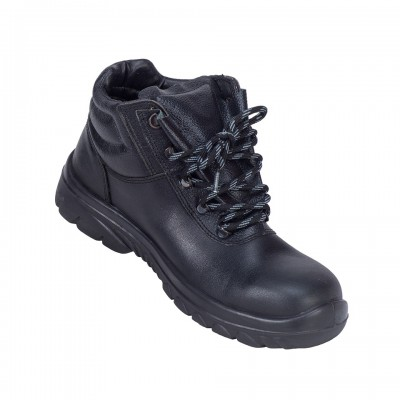 HATRICK, Single Density Tiglon Sole Shoes for mallcom Feet protection. It is High ankle leather boot