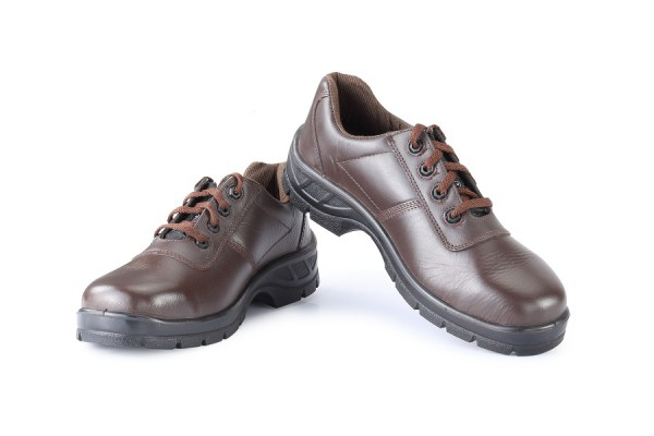HIGHLANDER, Single Density Tiger Sole Shoes for mallcom Feet protection. It is High ankle leather boot