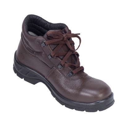 NEOFELIS, Single Density Tiger Sole Shoes for mallcom Feet protection. It is Low ankle leather boot