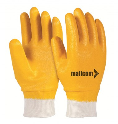 LFKY, Cut & Sewn Nitrile Gloves for mallcom Hand protection. It is Full coated nitrile gloves