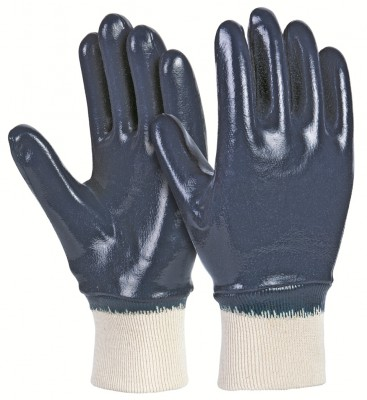 LFKB, Cut & Sewn Nitrile Gloves for mallcom Hand protection. It is Full nitrile dipped gloves