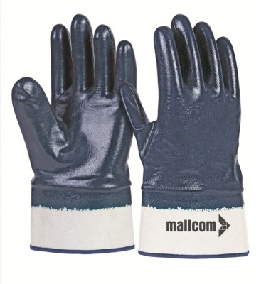 LFCB, Cut & Sewn Nitrile Gloves for mallcom Hand protection. It is Full coated nitrile gloves