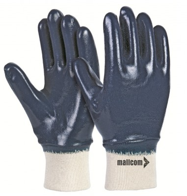 TFKB, Cut & Sewn Nitrile Gloves for mallcom Hand protection. It is Nitrile dipped gloves