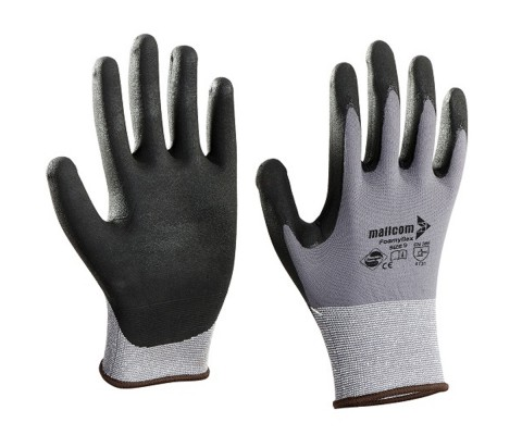 M35NBV, Seamless Nitrile Gloves for mallcom Hand protection. It is Nitrile dipped gloves