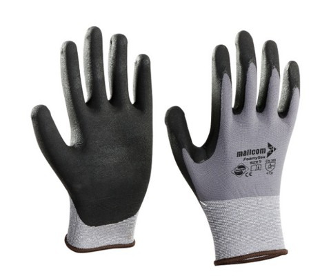 N35NBD, Seamless Nitrile Gloves for mallcom Hand protection. It is Seamless nitrile dipped gloves