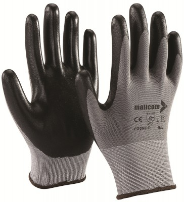 P35NBD, Seamless Nitrile Gloves for mallcom Hand protection. It is Seamless nitrile dipped gloves