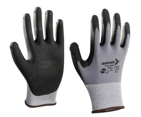 N35NBA, Seamless Nitrile Gloves for mallcom Hand protection. It is Nitrile dipped gloves