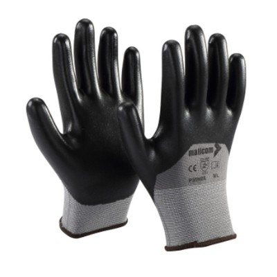 P35NBE, Seamless Nitrile Gloves for mallcom Hand protection. It is Seamless nitrile dipped gloves