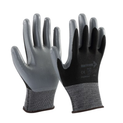 P55NGA, Seamless Nitrile Gloves for mallcom Hand protection. It is Nitrile dipped gloves