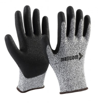 F33NBG, Seamless Nitrile Gloves for mallcom Hand protection. It is Nitrile dipped gloves