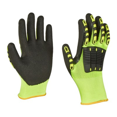P65TDL, Impact Resistant Nitrile Gloves for mallcom Hand protection. It is Seamless nitrile dipped gloves