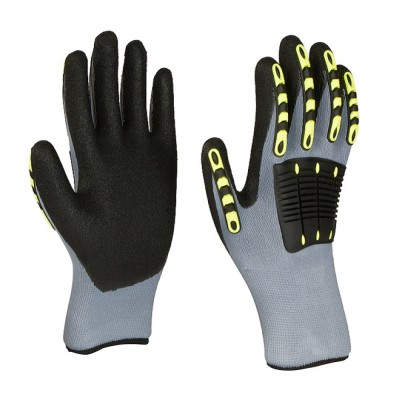 P35TDL, Impact Resistant Nitrile Gloves for mallcom Hand protection. It is Seamless nitrile dipped gloves