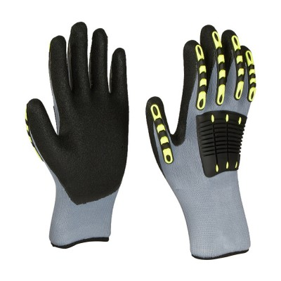N35TDL, Impact Resistant Nitrile Gloves for mallcom Hand protection. It is Seamless nitrile dipped gloves
