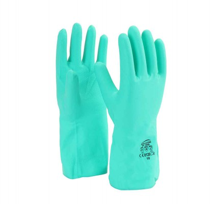 NF153G, Seamless Nitrile Gloves for mallcom Hand protection. It is Nitrile dipped gloves