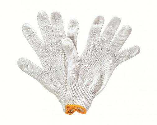 P1006, Seamless Knitted Gloves for mallcom Hand protection. It is Polyester seamless gloves