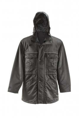 WINWR001, Winter Wear for mallcom Body protection. It is Hooded winter workwear