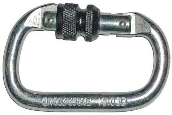 SK 03, Connector for mallcom Fall protection. It is Steel karabiner