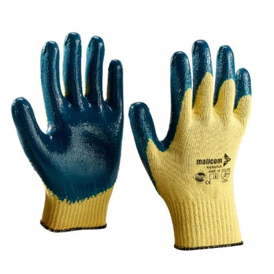 K63NAA, Seamless Nitrile Gloves for mallcom Hand protection. It is Seamless nitrile dipped gloves