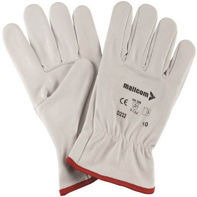 D232, Driver Leather Gloves for mallcom Hand protection. It is Leather gloves