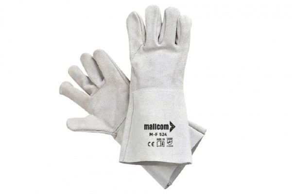 M-F524, Welder Leather Gloves for mallcom Hand protection. It is Welder leather gloves