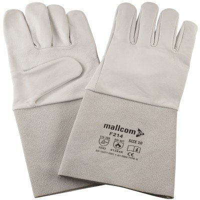 M-F214, Welder Leather Gloves for mallcom Hand protection. It is Welder leather gloves