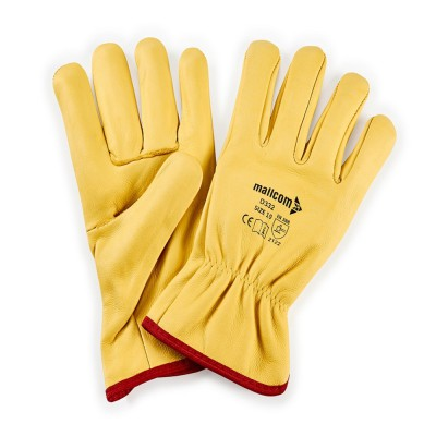 D332, Driver Leather Gloves for mallcom Hand protection. It is Driver gloves