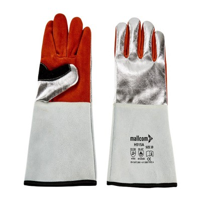 H515A, Welder Leather Gloves for mallcom Hand protection. It is Welder leather gloves