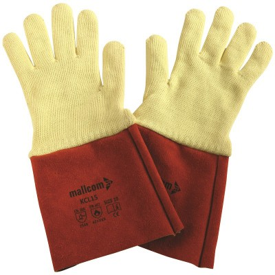 KCL15, Welder Leather Gloves for mallcom Hand protection. It is Welder leather gloves