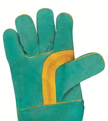 F637, Welder Leather Gloves for mallcom Hand protection. It is Welder glove