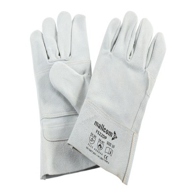 F522DP, Welder Leather Gloves for mallcom Hand protection. It is Welder gloves