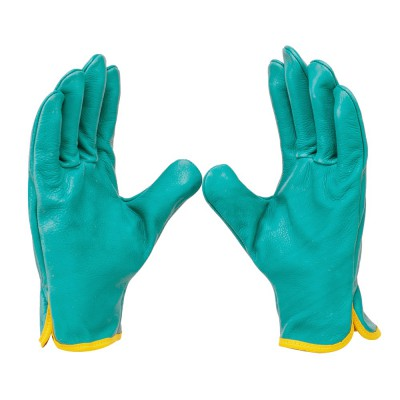D142, Driver Leather Gloves for mallcom Hand protection. It is Driver Leather Gloves