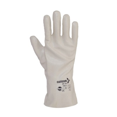 NIF LITE IL 30, Cut & Sewn Nitrile Gloves for mallcom Hand protection. It is Nitrile Gauntlet