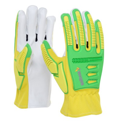 TM294, Impact Resistant Leather Gloves for mallcom Hand protection. It is Knuckle Protection Gloves