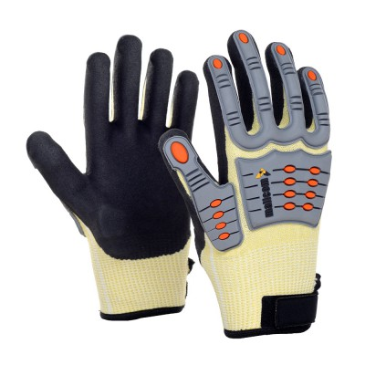 LR3TDL, Impact Resistant Nitrile Gloves for mallcom Hand protection. It is Knuckle Protection Gloves