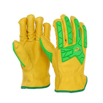 DE2398, Impact Resistant Leather Gloves for mallcom Hand protection. It is Impact resistant driver glove