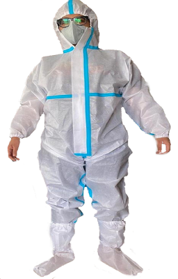 JD6AY, Disposable Wear for mallcom Body protection. It is Disposable Coverall