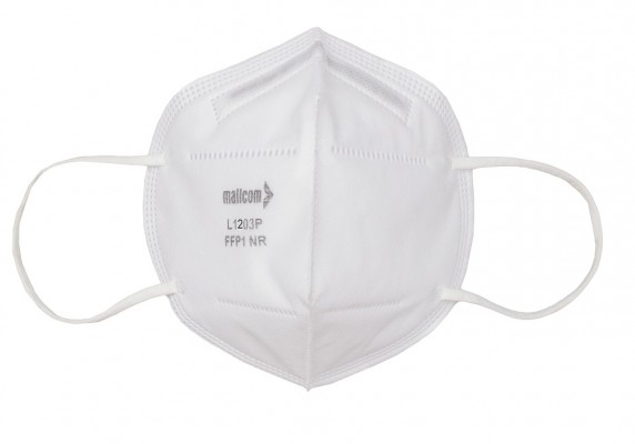 L1203P, Foldable Disposable Respiratory Mask for mallcom Head protection. It is Disposable Respirator Mask