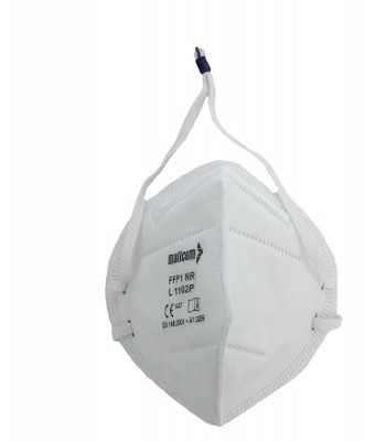 L1102 P, Foldable Disposable Respiratory Mask for mallcom Head protection. It is Disposable Respirator Mask