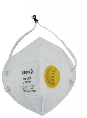 L1102PV, Foldable Disposable Respiratory Mask for mallcom Head protection. It is Disposable Respirator Mask