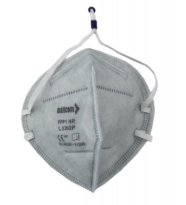 L2202P, Foldable Disposable Respiratory Mask for mallcom Head protection. It is Disposable Respirator Mask