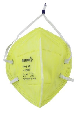 L3202P, Foldable Disposable Respiratory Mask for mallcom Head protection. It is Disposable Respirator Mask