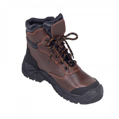 BAMBINO, Double Density Darwin Sole Shoes for mallcom Feet protection. It is High ankle leather boot