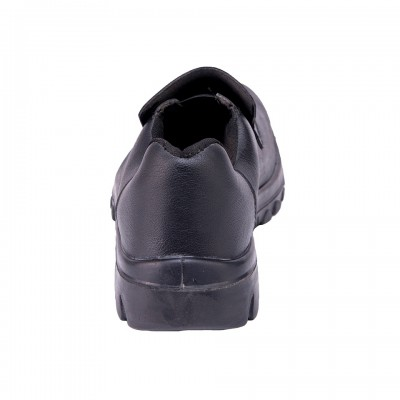 CYMRIC BLACK, Single Density Tiglon Sole Shoes for mallcom Feet protection. It is Low ankle boot