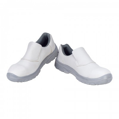 CYMRIC WHITE, Single Density Tiglon Sole Shoes for mallcom Feet protection. It is Low ankle boot