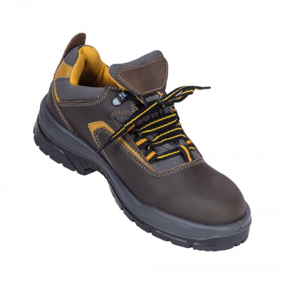 GUINA, Double Density Oliver Sole Shoes for mallcom Feet protection. It is Low ankle leather boot