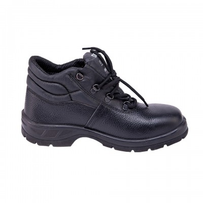 LEOPARD, Single Density Tiger Sole Shoes for mallcom Feet protection. It is High ankle leather boot