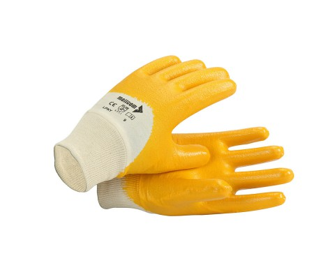 LPKY, Cut & Sewn Nitrile Gloves for mallcom Hand protection. It is Nitrile dipped gloves