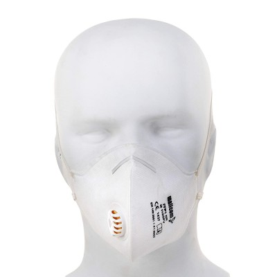 M1102PV, Foldable Disposable Respiratory Mask for mallcom Head protection. It is FFP1 face mask