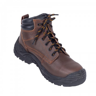 NEBELUNG, Double Density Darwin Sole Shoes for mallcom Feet protection. It is High ankle leather boot