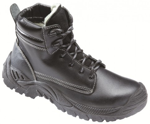 NORTH 3600, Double Density Darwin Sole Shoes for mallcom Feet protection. It is High ankle leather boot